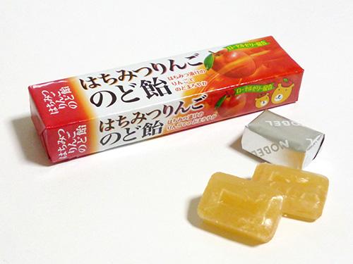 ノーベル製菓 はちみつりんごのど飴
